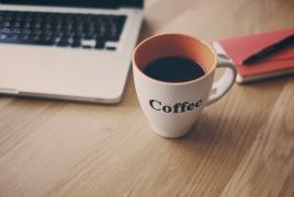 computer desk mug